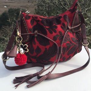 Oilily Red Brown Tapestry Shoulder bag